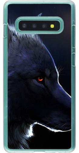 Coque Samsung Galaxy S10+ - Plastique transparent Wolf Shape