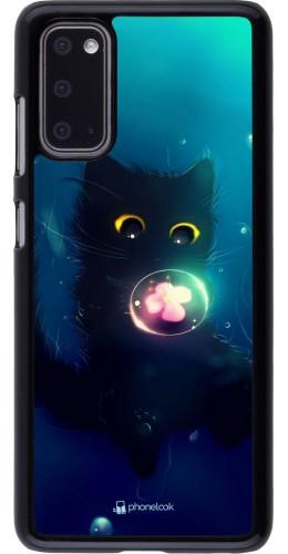 Coque Samsung Galaxy S20 - Cute Cat Bubble