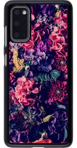 Coque Samsung Galaxy S20 - Flowers Dark