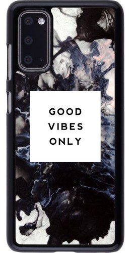 Coque Samsung Galaxy S20 - Marble Good Vibes Only