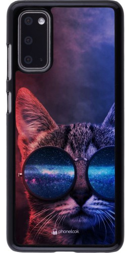 Coque Samsung Galaxy S20 - Red Blue Cat Glasses