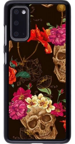Coque Samsung Galaxy S20 - Skulls and flowers