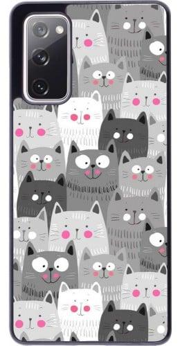 Coque Samsung Galaxy S20 FE - Chats gris troupeau