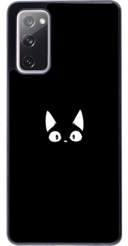 Coque Samsung Galaxy S20 FE - Funny cat on black