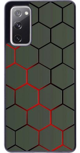 Coque Samsung Galaxy S20 FE - Geometric Line red