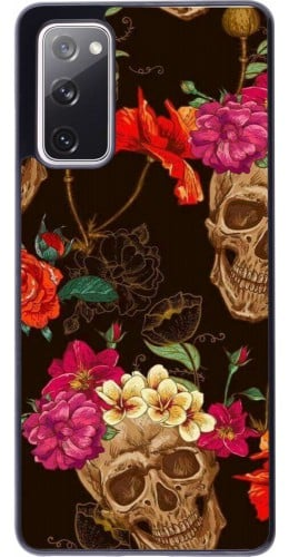 Coque Samsung Galaxy S20 FE - Skulls and flowers