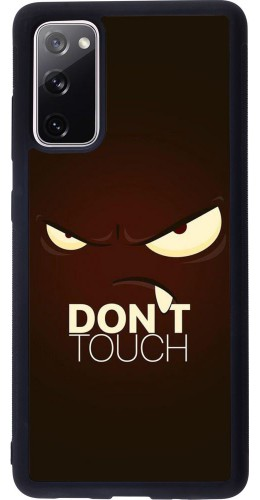 Coque Samsung Galaxy S20 FE - Silicone rigide noir Angry Dont Touch