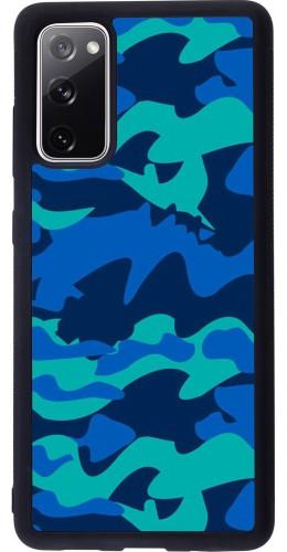 Coque Samsung Galaxy S20 FE - Silicone rigide noir Camo Blue