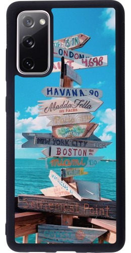 Coque Samsung Galaxy S20 FE - Silicone rigide noir Cool Cities Directions