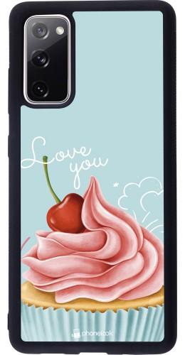 Coque Samsung Galaxy S20 FE - Silicone rigide noir Cupcake Love You