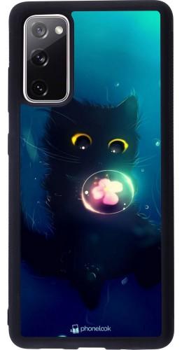 Coque Samsung Galaxy S20 FE - Silicone rigide noir Cute Cat Bubble