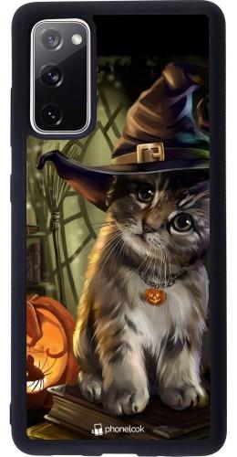 Coque Samsung Galaxy S20 FE - Silicone rigide noir Halloween 21 Witch cat