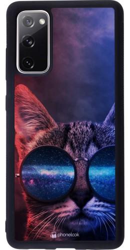 Coque Samsung Galaxy S20 FE - Silicone rigide noir Red Blue Cat Glasses
