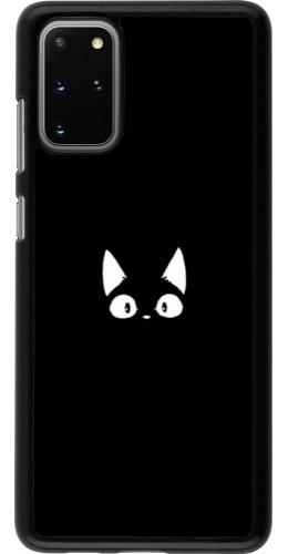 Coque Samsung Galaxy S20+ - Funny cat on black