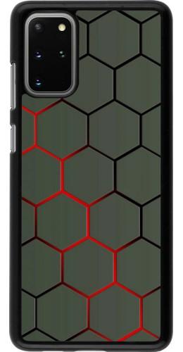 Coque Samsung Galaxy S20+ - Geometric Line red