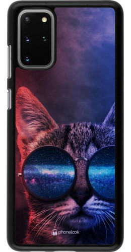 Coque Samsung Galaxy S20+ - Red Blue Cat Glasses