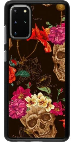 Coque Samsung Galaxy S20+ - Skulls and flowers