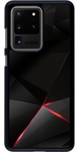 Coque Samsung Galaxy S20 Ultra - Black Red Lines