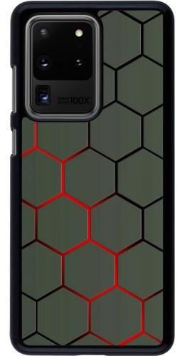 Coque Samsung Galaxy S20 Ultra - Geometric Line red