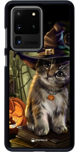 Coque Samsung Galaxy S20 Ultra - Halloween 21 Witch cat