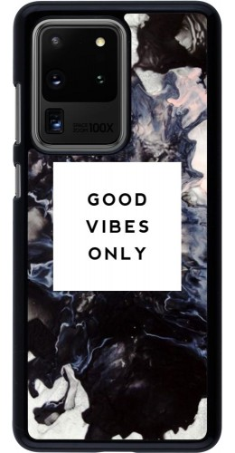 Coque Samsung Galaxy S20 Ultra - Marble Good Vibes Only
