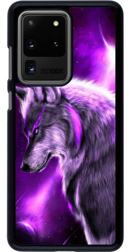 Coque Samsung Galaxy S20 Ultra - Purple Sky Wolf