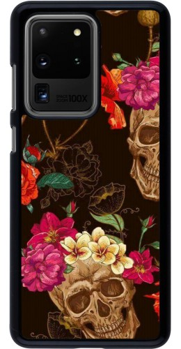 Coque Samsung Galaxy S20 Ultra - Skulls and flowers