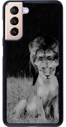 Coque Samsung Galaxy S21 5G - Angry lions