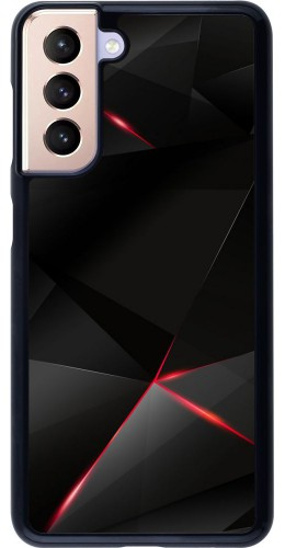Coque Samsung Galaxy S21 5G - Black Red Lines
