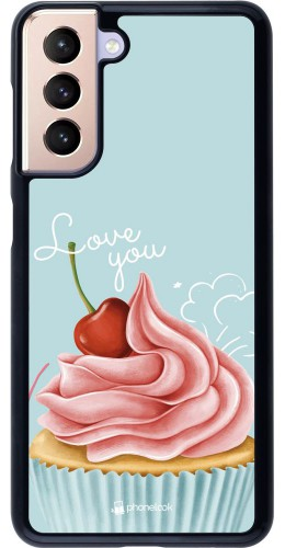 Coque Samsung Galaxy S21 5G - Cupcake Love You