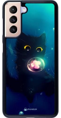 Coque Samsung Galaxy S21 5G - Cute Cat Bubble