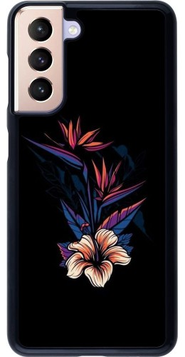 Coque Samsung Galaxy S21 5G - Dark Flowers