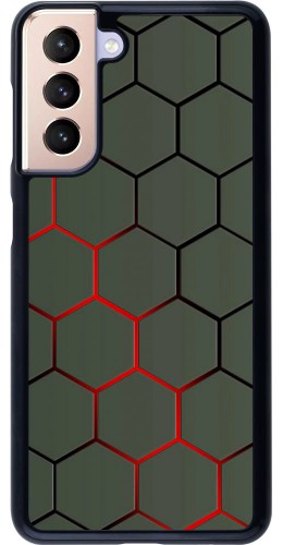 Coque Samsung Galaxy S21 5G - Geometric Line red