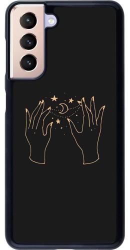 Coque Samsung Galaxy S21 5G - Grey magic hands