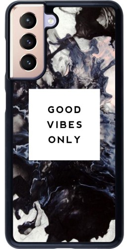 Coque Samsung Galaxy S21 5G - Marble Good Vibes Only