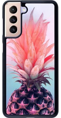 Coque Samsung Galaxy S21 5G - Purple Pink Pineapple
