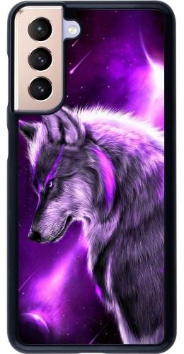 Coque Samsung Galaxy S21 5G - Purple Sky Wolf