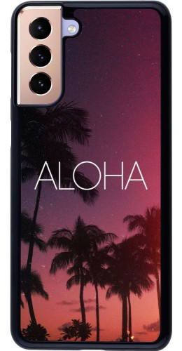 Coque Samsung Galaxy S21+ 5G - Aloha Sunset Palms