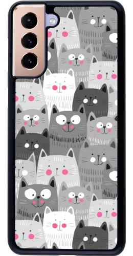 Coque Samsung Galaxy S21+ 5G - Chats gris troupeau