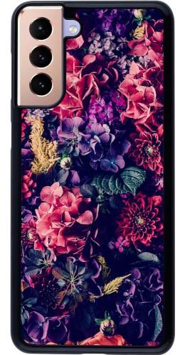 Coque Samsung Galaxy S21+ 5G - Flowers Dark