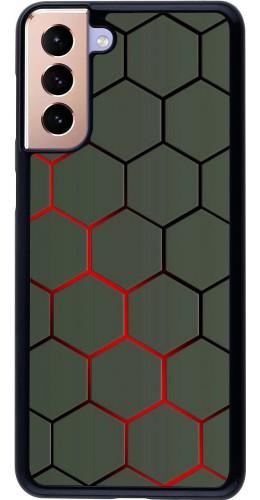 Coque Samsung Galaxy S21+ 5G - Geometric Line red