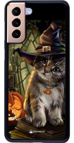 Coque Samsung Galaxy S21+ 5G - Halloween 21 Witch cat