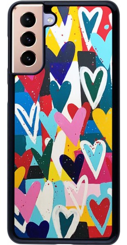 Coque Samsung Galaxy S21+ 5G - Joyful Hearts