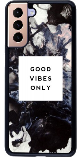 Coque Samsung Galaxy S21+ 5G - Marble Good Vibes Only