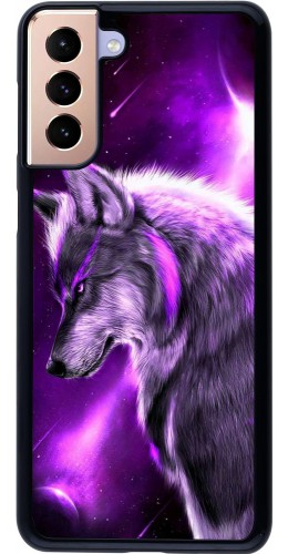 Coque Samsung Galaxy S21+ 5G - Purple Sky Wolf