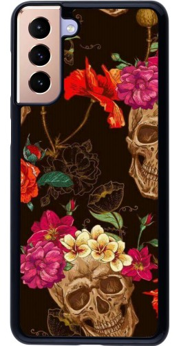 Coque Samsung Galaxy S21+ 5G - Skulls and flowers