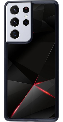 Coque Samsung Galaxy S21 Ultra 5G - Black Red Lines