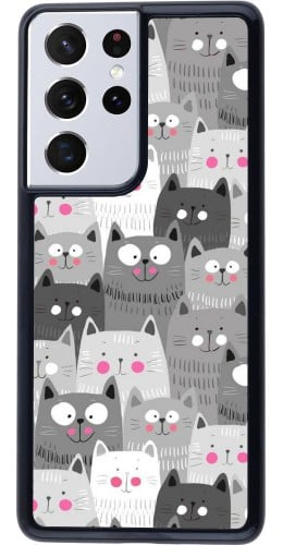 Coque Samsung Galaxy S21 Ultra 5G - Chats gris troupeau