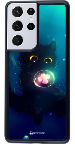 Coque Samsung Galaxy S21 Ultra 5G - Cute Cat Bubble