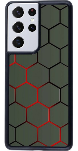 Coque Samsung Galaxy S21 Ultra 5G - Geometric Line red